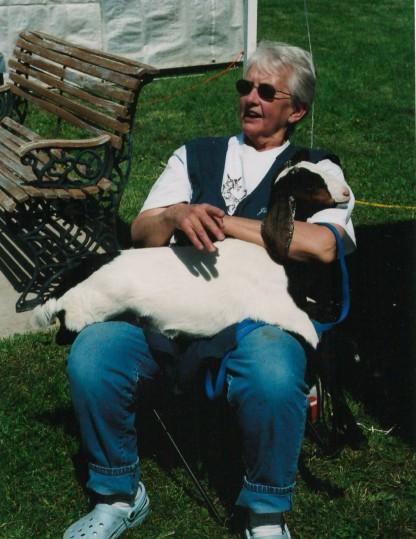 Lois & baby goat